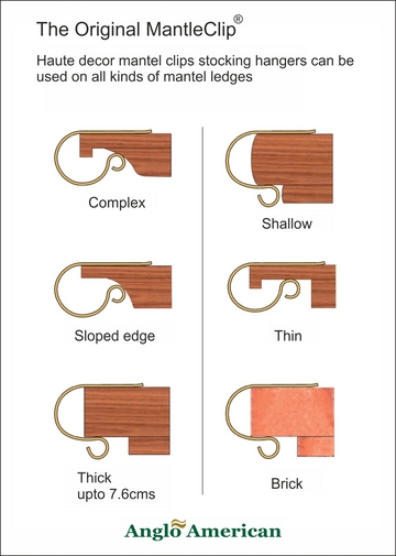 Mantel clips profiles-www.suctioncupsdirect.co.uk