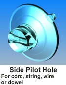 suction cups with side pilot hole-www.suctioncupsdirect.co.uk