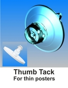 suction cups with thumb tack-www.suctioncupsdirect.co.uk