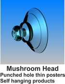 suction cups with mushroom head-www.suctioncupsdirect.co.uk