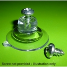 Suction cup with top pilot hole-www.suctioncupsdirect.co.uk