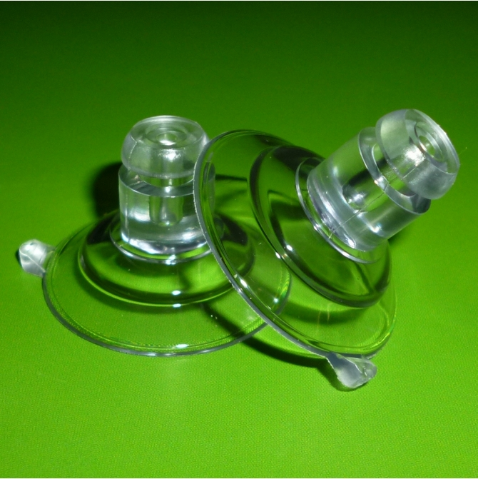 22mm Side Pilot Hole Suction Cups Suckers for Glass NEW Packet of 4 x