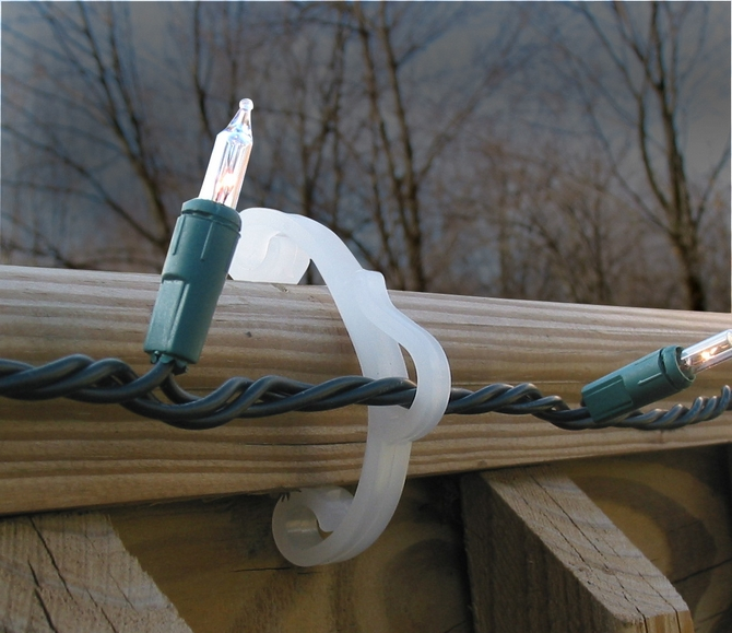 christmas light clips outdoor deck