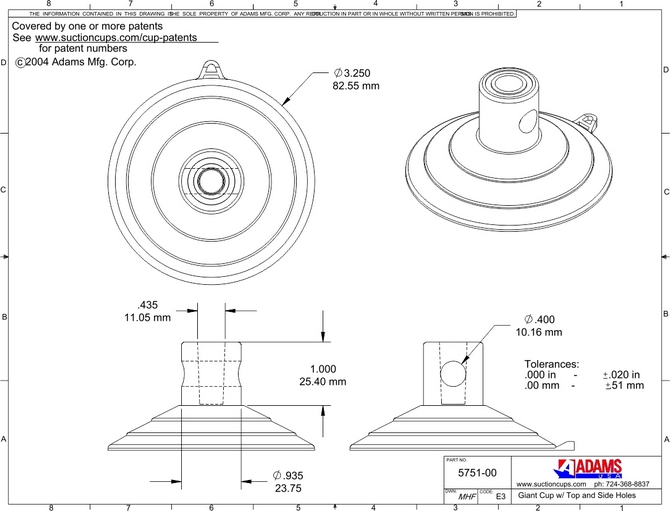 1.2950715751 00technicaldrawingsidetopholeGiant adhesive wire clips 10 on adhesive wire clips