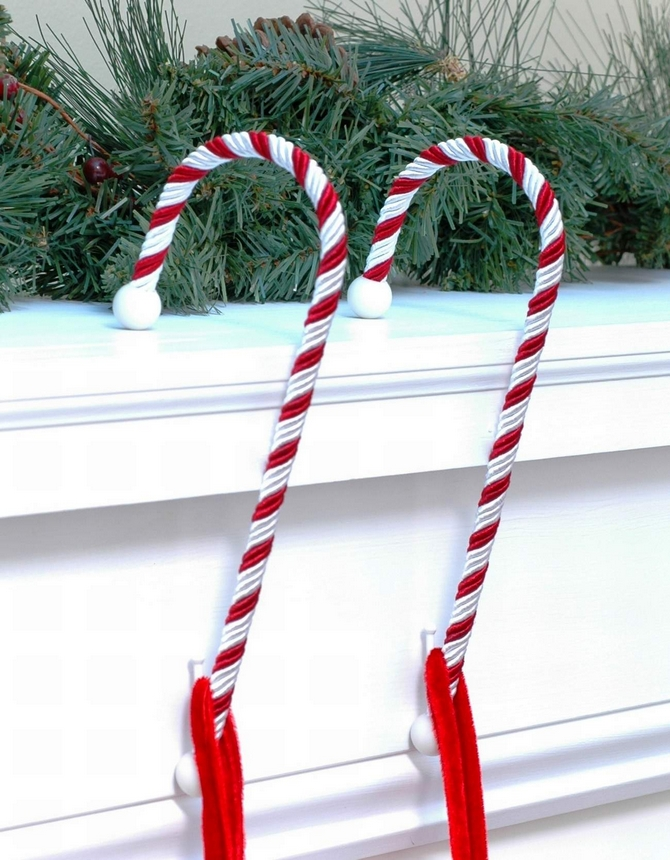 Haute decor candy cane stocking hangers suction cups direct for Haute decor
