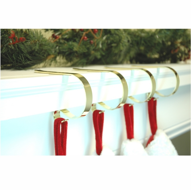 Stocking hangers suction cups direct for Brass stocking holders fireplace