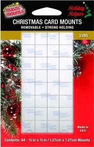 Magic Mounts Removable Adhesive Christmas Card Mounts. Pack of 64.