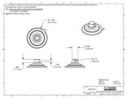 Technical Drawing. 47mm Suction Cups with 4.5mm Side Hole.