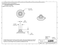 Technical Drawing. 32mm Suction Cup with LED or Rope Light Holder.