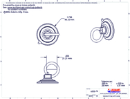 Technical Drawing. 47mm Suction Cup with Loop.