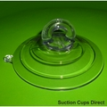 Heavy Duty Suction Cups with Loop for Rope or Straps. 85mm x 2 pack