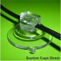 Suction Cups with Small Slot Head for Thin Wires on Glass. 32mm x 2 sample pack