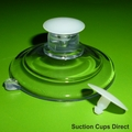 Suction Cups for Posters with Barbed Thumb Tacks. 47mm x 10 pack