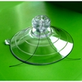Heavy Duty Suction Cup. Mushroom Head and 2 Side Pilot Holes. 85mm x 2 pack