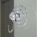 Suction Cups with Hooks. Long Neck for Sun Catchers. 32mm x 10 pack