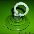 Suction Cups with Finger Loop. Suction Cup Removal Tool. 64mm x 2 pack.