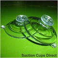 Suction Cups with Mushroom Head. 47mm x 4 pack