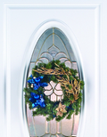 Christmas Suction Wreath Hanger for Plain UPVC Door. Standard Hook.