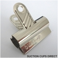 Suction Cups with Shiny Metal Bulldog Clips. 32mm x 10 pack