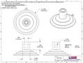 Heavy Duty Suction Cup. Top Pilot Hole, Side Pilot Hole. 85mm x 500 pack