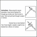 Clear Cable Ties. Garland Ties. 10 pack