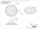 Technical Drawing. 85mm Heavy Duty Suction Cup with Loop.