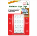 Adhesive Light Clips for Christmas Lights. White. Pack of 8.