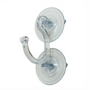 Heavy duty double suction cups with strong hook. 85mm diameter. Holds up to 9kgs (20lbs).