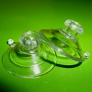 Suction cups with mushroom head and top pilot hole. 22mm - thick neck domed head