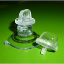 Suction cups with large thumb tack. 32mm. Posters upto 2mm thick