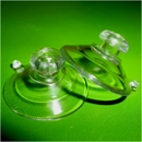 Suction cups with top pilot hole and mushroom head. 22mm