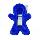 Magnetic clips. Adams Magnet Man. Blue. Holds 350gms.