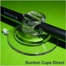 Suction Cups with Large Slot Head. Suction Cable Clips. 32mm x 100 pack