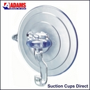 Heavy duty suction cups with hooks. Giant 85mm diameter. Standard hook. Holds 5.5kgs.