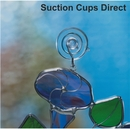 Small suction cups with hooks. 32mm diameter. Holds 0.45kgs.