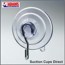 Strong medium suction cups with hooks. 47mm diameter. Holds 1.36kgs.