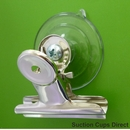 Suction cup with bulldog clip. 47mm suction cup. 50mm wide clip.