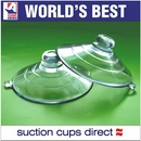 Large Suction Cups with Mushroom Head. 64mm x 100 pack