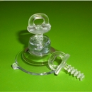 Suction Cups for Posters and Signs. Clear Plastic Thumb Screw. 32mm x 20 pack