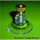 Suction cups with screw stud and brass nut. 32mm