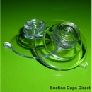Suction cups with top pilot hole. 32mm