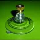Suction cups with screw stud and brass nut. 47mm