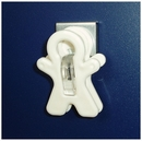 Magnetic clips. Adams Magnet Man. White. Holds 350gms.