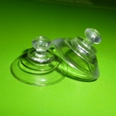 Suction cups with mushroom head. 22mm - thin neck domed head