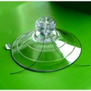 Heavy Duty 85mm Giant Suction Cup. 2 Side Pilot Holes and Mushroom Head. Sample pack of 1.