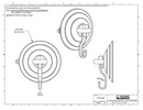 Technical Drawing. 85mm Heavy Duty Suction Cup with Hook.