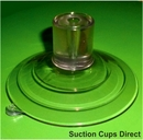 Heavy Duty Suction Cups. Narrow Top Pilot Hole. 85mm x 2 pack