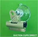 Suction cup with bulldog clip. 32mm suction cup. 30mm wide clip.