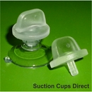 Suction Cups for Window Posters with Large Thumb Tack. 22mm x 50 pack.