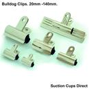 Premier Grip Bulldog Clips. 60mm x 20 pack.